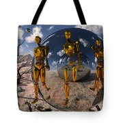 An Advanced Civilization Uses Time Tote Bag