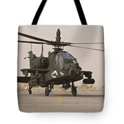 An Ah-64 Apache Helicopter Taxiing Tote Bag