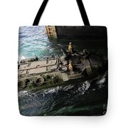 An Amphibious Assault Vehicle Enters Tote Bag