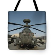 An Apache Helicopter At Camp Bastion Tote Bag