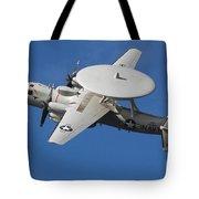 An E-2c Hawkeye In Flight Tote Bag