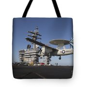 An E-2c Hawkeye Makes An Arrested Tote Bag