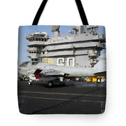 An Ea-6b Prowler Makes An Arrested Tote Bag