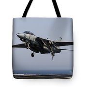 An F-14d Tomcat Comes In For An Tote Bag