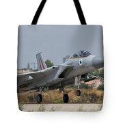 An F-15d Eagle Baz Aircraft Tote Bag
