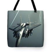 An F-15e Strike Eagle Flies Over Iraq Tote Bag