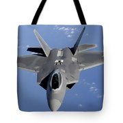 An F-22 Raptor Moves Into Position Tote Bag