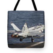 An Fa-18c Hornet Taking Tote Bag