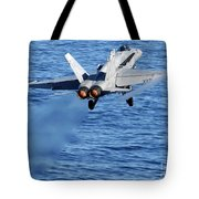 An Fa-18c Hornet Taking Off Tote Bag