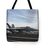 An Fa-18f Super Hornet Takes Tote Bag by Stocktrek Images