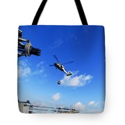 An Mh-60s Sea Hawk Helicopter Tote Bag