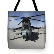 An Mi-24 Hind Helicopter Tote Bag