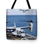 An Mv-22 Osprey Tiltrotor Aircraft Tote Bag