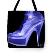 An X-ray Of A Foot In A High Heel Shoe Tote Bag