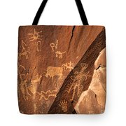 Ancient Indian Petroglyphs Tote Bag