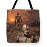 Android Fossils Preserved Tote Bag
