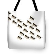 Ants, Forming An Arrow Tote Bag