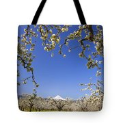Apple Blossom Trees In Hood River Tote Bag