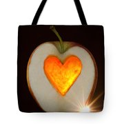Apple With A Heart Tote Bag