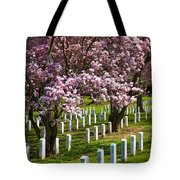 Arlington Cherry Trees Tote Bag