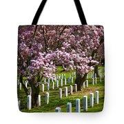 Arlington Cherry Trees Tote Bag