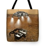 Artists Concept Of An Ascent Vehicle Tote Bag