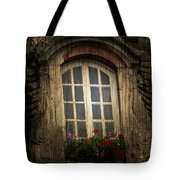 As She Waits Tote Bag by Empty Wall