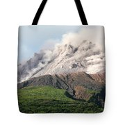 Ash And Gas Rising From Lava Dome Tote Bag