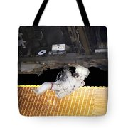 Astronaut Participates In A Spacewalk Tote Bag