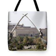 Baghdad, Iraq - Hands Of Victory Tote Bag