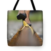 Banana Peel On The Railroad Tracks Tote Bag