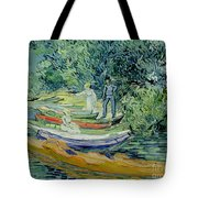 Bank Of The Oise At Auvers Tote Bag