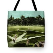 Baseball In 1846 Tote Bag by Omikron