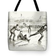 Baseball On Ice, 1884 Tote Bag