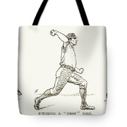 Baseball Pitching, 1889 Tote Bag