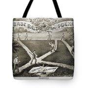 Baseball Polka, 1867 Tote Bag