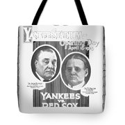 Baseball Program, 1923 Tote Bag