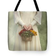 Basket With Flowers Tote Bag