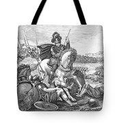 Battle Of Agincourt, 1415 Tote Bag