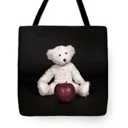 Bear And Apple Tote Bag