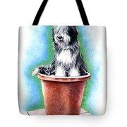 Beardie In A Pot Tote Bag
