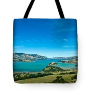 Beautiful Summer Day View Into The Akaroa Harbour Tote Bag
