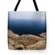 Beautiful View On Mediterranean Sea From Cape Gkreko In Cyprus Tote Bag
