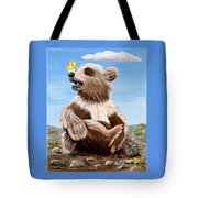 Ben Bear And Butterfly Tote Bag