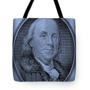 Ben Franklin In Cyan Tote Bag