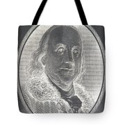 Ben Franklin In Negative Tote Bag