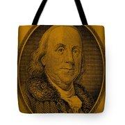 Ben Franklin In Orange Tote Bag