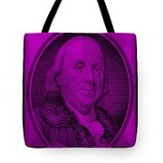 Ben Franklin In Purple Tote Bag
