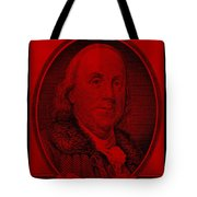 Ben Franklin In Red Tote Bag