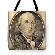 Ben Franklin In Sepia Tote Bag